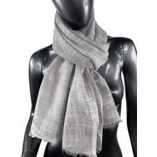 На фото 1 - Лёгкий шейный платок из хлопка и бамбука, цвет серый