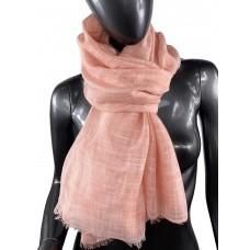 На фото 1 - Лёгкий шейный платок из хлопка и бамбука, цвет лососевый