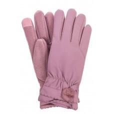 На фото 1 - Классические перчатки женские с мехом, цвет сиреневый