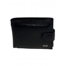 На фото 1 - Маленький кошелёк для мужчин из натуральной кожи, цвет чёрный