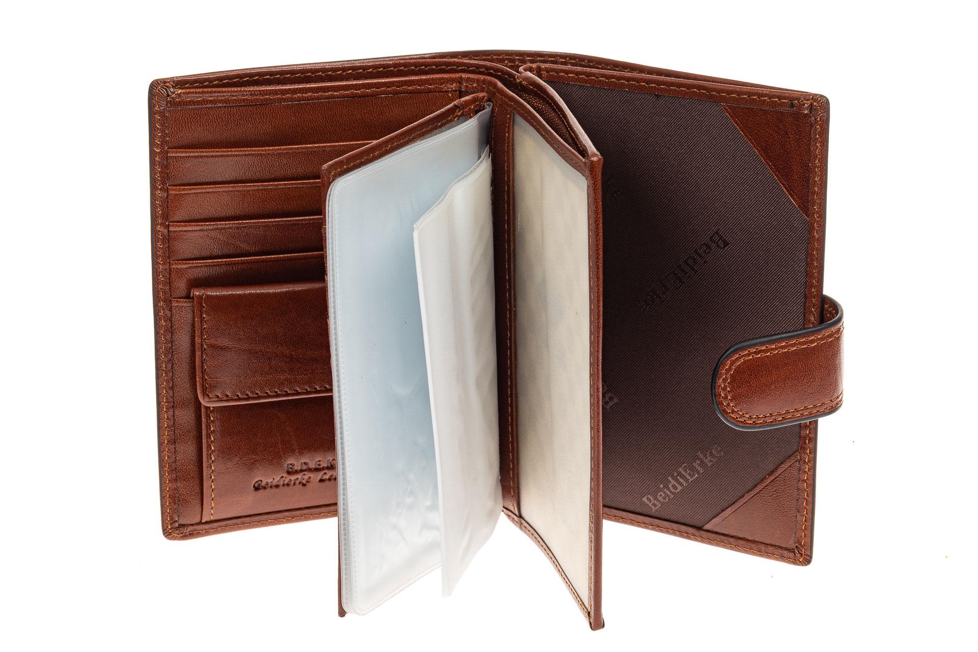 На фото 2 - Портмоне мужское с отделом под документы, натуральная кожа, цвет коричневый