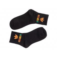 На фото 1 - Женские носки с принтом, цвет чёрный