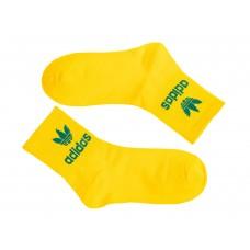 На фото 1 - Женские носки с принтом, цвет жёлтый