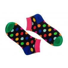 На фото 1 - Носки чёрные в разноцветный горошек