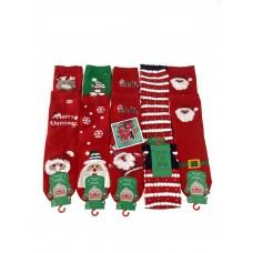 На фото 1 - Женские носки с новогодним принтом, 10 пар