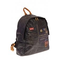 На фото черный женский рюкзак из материала Nano Kraft, оптом