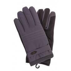 На фото 1 - Утепленные перчатки мужские, цвет серый