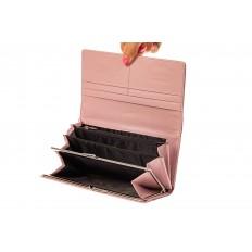 На фото 2 - Женский кошелек из искусственной кожи, цвет розовый