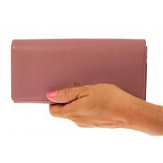 На фото 3 - Женский кошелек из искусственной кожи, цвет розовый