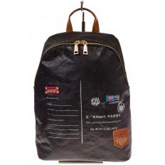 На фото 2 - Черный эко-рюкзак из материала Tyvek