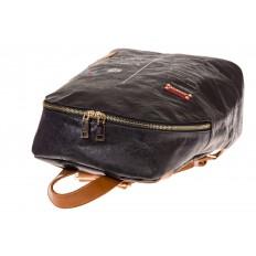 На фото 4 - Черный эко-рюкзак из материала Tyvek