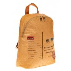 На фото 1 - Эко-рюкзак из материала tyvek, цвет рыжий