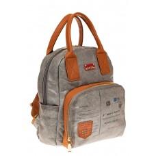 На фото 1 - Серый рюкзак из тайвека