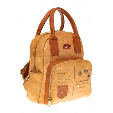 На фото 1 - Рыжий рюкзак из тайвека