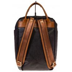 На фото 3 - Черный рюкзак в эко-стиле из Tyvek