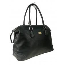 На фото 1 - Женская дорожная сумка из искусственной кожи, цвет чёрный