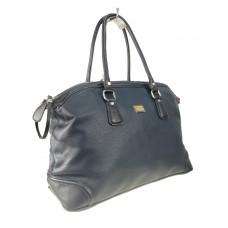 На фото 1 - Женская дорожная сумка из искусственной кожи, цвет тёмно-синий