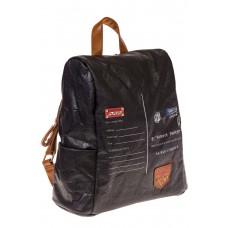 На фото черный женский рюкзак с системой антивор из крафт-серии, оптом
