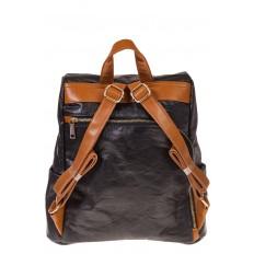 На фото 3 - Черный крафт-рюкзак с системой антивор
