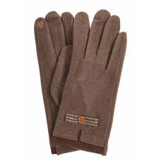 На фото 1 - Классические перчатки женские текстильные, цвет бежево-коричневый