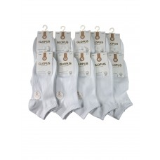 На фото 1 - Женские короткие носки, 10 пар, цвет белый