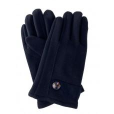 На фото 1 - Перчатки велюровые мужские, цвет чёрный