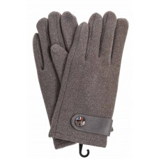 На фото 1 - Перчатки мужские велюровые, цвет серый