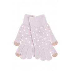 На фото 1 - Перчатки женские утеплённые зимние, цвет сиреневый