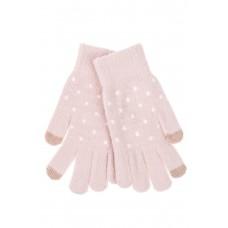 На фото 1 - Перчатки женские утеплённые зимние, цвет розовый