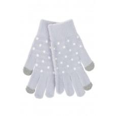 На фото 1 - Перчатки женские утеплённые зимние, цвет серо-голубой