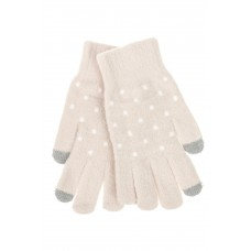 На фото 1 - Перчатки женские утеплённые зимние, цвет бежевый