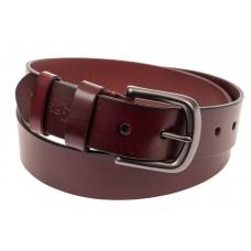 На фото 1 - Кожаный ремень мужской, длина от 115 до 130 см, цвет красно-коричневый