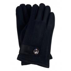 На фото 1 - Велюровые женские перчатки, цвет чёрный