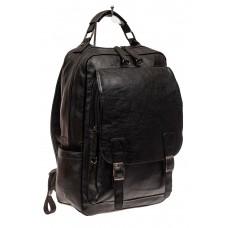 На фото 1 - Мужской рюкзак из искусственной кожи, цвет ...