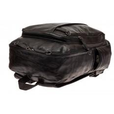 На фото 4 - Мужской городской рюкзак из искусственной кожи, цвет черный