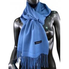 На фото 1 - Однотонный шарф-палантин из кашемира, цвет сизый