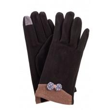 На фото 1 - Классические перчатки женские текстильные, цвет черный