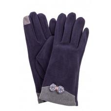На фото 1 - Классические перчатки женские текстильные, цвет синий
