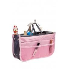 На фото 1 - Вкладыш органайзер из текстиля, цвет розовый