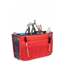На фото 1 - Вкладыш органайзер из текстиля, цвет красный