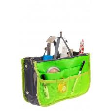 На фото 1 - Вкладыш органайзер из текстиля, цвет салатовый