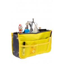 На фото 1 - Вкладыш органайзер из текстиля, цвет желтый