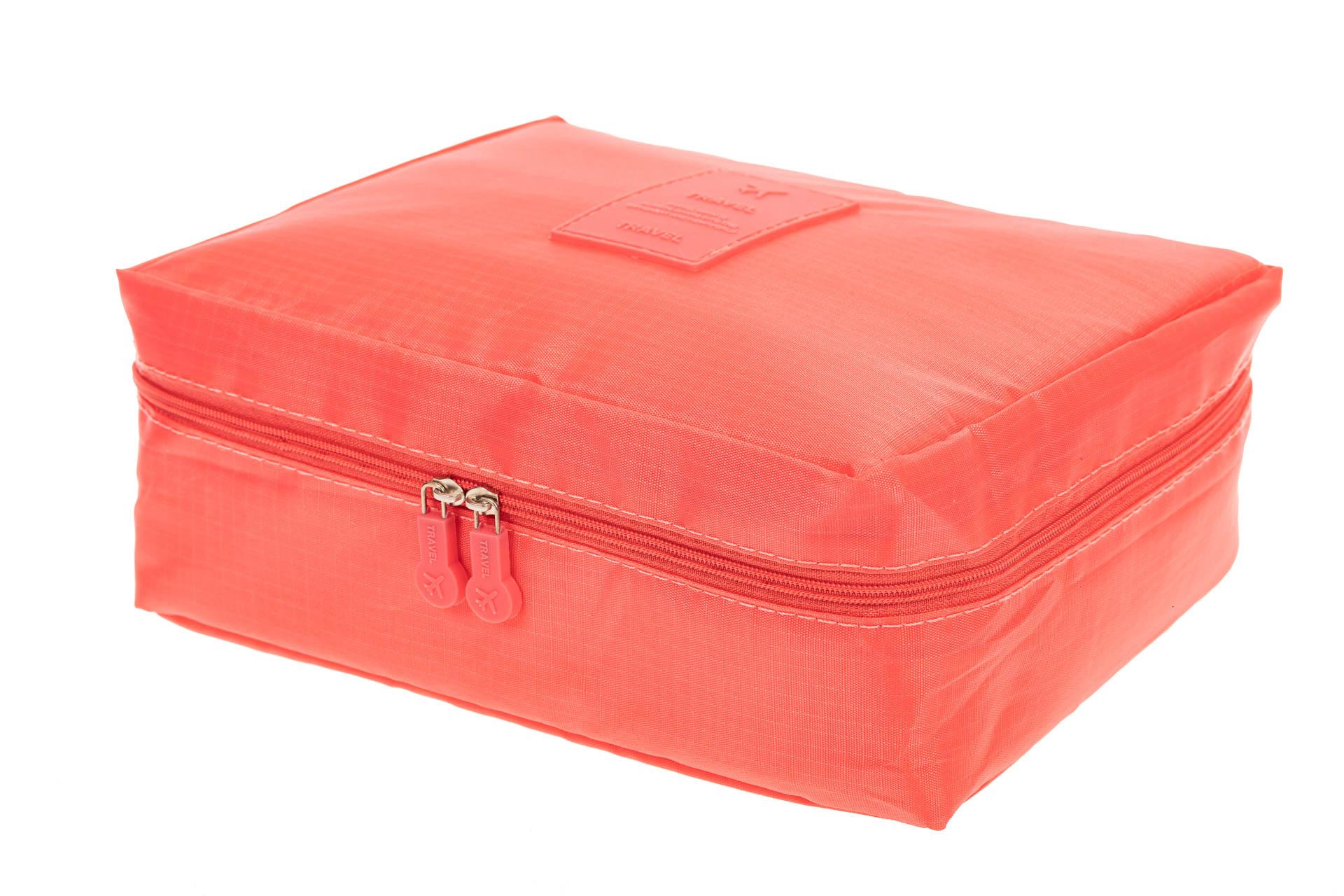 На фото 1 - Дорожная сумка-косметичка multi pouch, цвет розовый