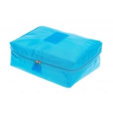 На фото 1 - Дорожная сумка-косметичка multi pouch, цвет голубой