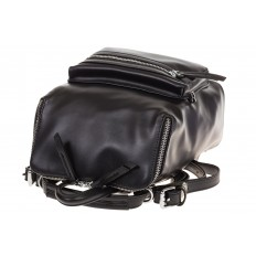 На фото 4 - Мягкий рюкзак-трансформер из эко-кожи черного цвета F1011