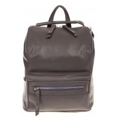 На фото 2 - Мягкий рюкзак-трансформер из эко-кожи серого цвета F1011