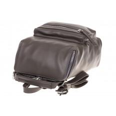 На фото 4 - Мягкий рюкзак-трансформер из эко-кожи серого цвета F1011