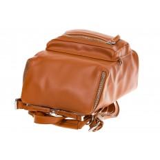 На фото 4 - Мягкий рюкзак-трансформер из эко-кожи коричневого цвета F1011