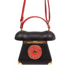 На фото 2 - Театральная сумочка из искусственной кожи, цвет черный