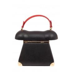 На фото 3 - Театральная сумочка из искусственной кожи, цвет черный